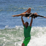Tandem Surfers Travis Long & Ahlia Hoffman