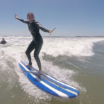 Day one for first time surfer, Shannon, at Pat Weber's San Diego Surfing Academy.