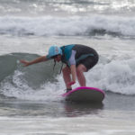 Blind Surfer Barbie Pacheco nails it with the San Diego Surfing Academy!
