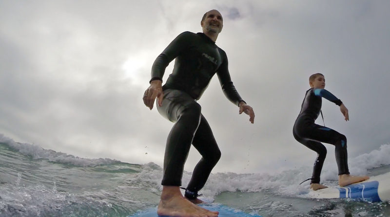 Dr. Dave and Liam - Father and Son Hoosier Surfers